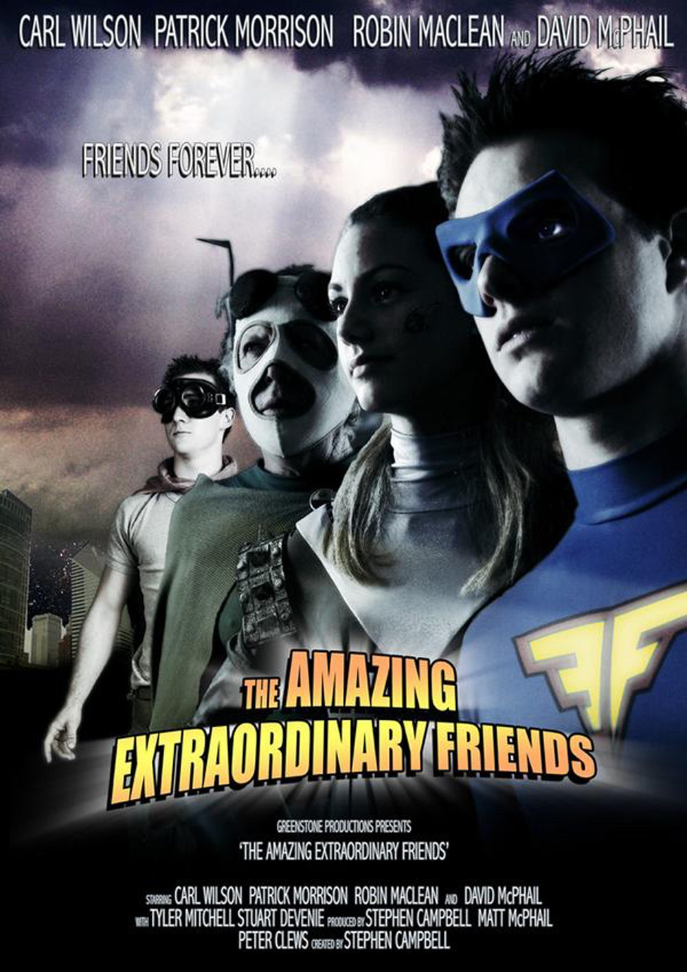 The Amazing Extraordinary Friends: Seasons One, two and Three. (TVNZ)   After discovering an ancient alien artefact, 16 year-old Ben Wilson is suddenly transformed into a legendary superhero. Ben must learn to control his new found super powers if he is to save his friends (not to mention the world) from a collective of sinister super villains known as Nemesis.   Finalist - 2008 Roma Fiction Festival (Italy) Finalist - the Seoul Drama Festival 2008 (Korea). Finalist - 2008 Qantas Film and Television Awards (New Zealand) Finalist - Best Children's/Youth Programme at the Aotearoa Film and Television Awards 2011.    Winner - special prize at the Seoul International Drama Festival 2011 (Korea)