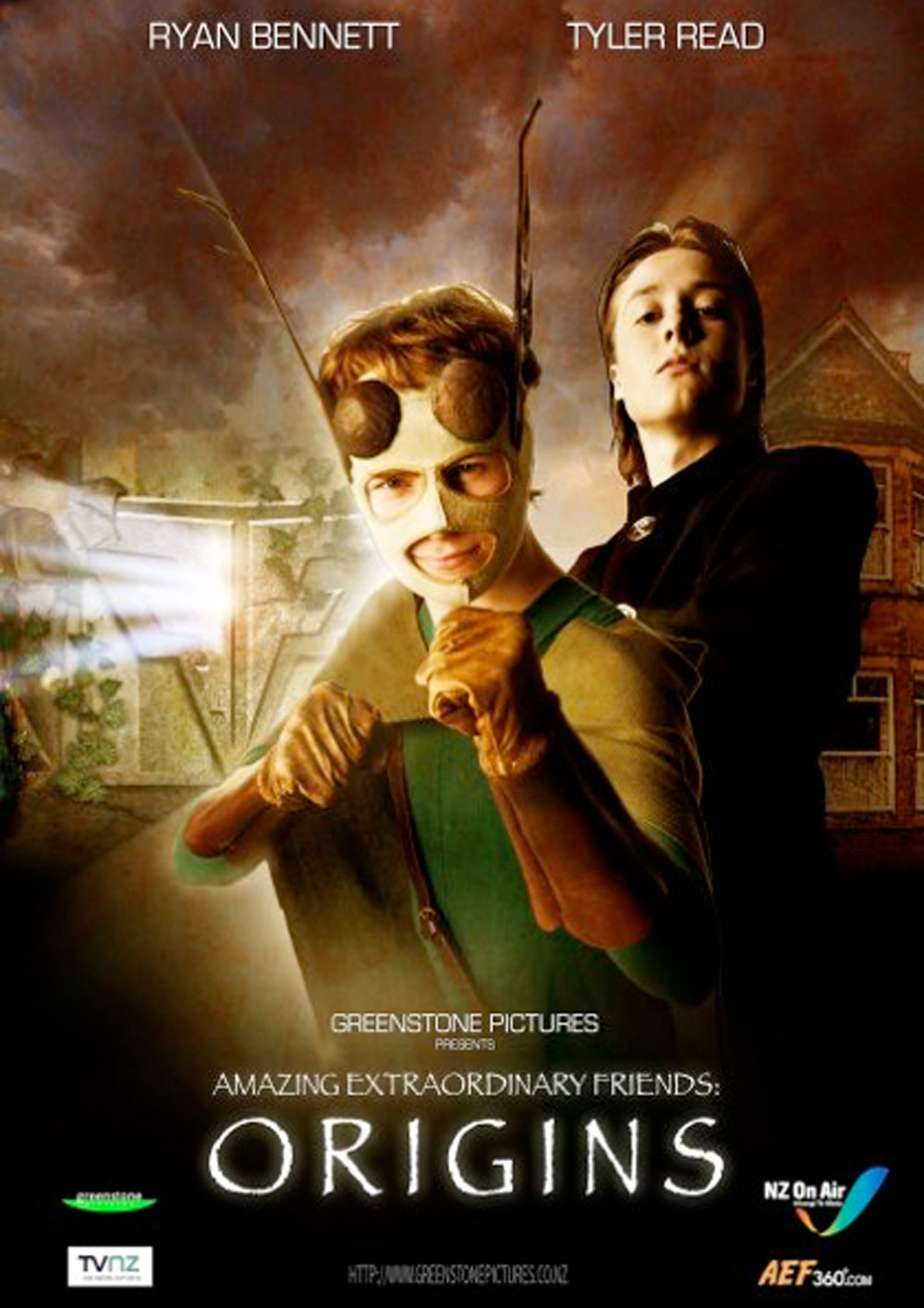 AEF: Origins. Web series. (TVNZ OnDemand)   Before they were arch enemies  The Green Termite  and  Renfield  were childhood friends. Origins tells the story of how love tore them apart.