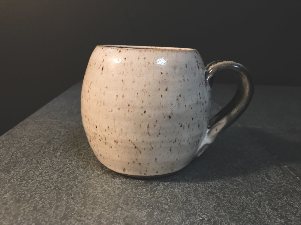 I like the shape of this one, and the speckled white glaze looks great.