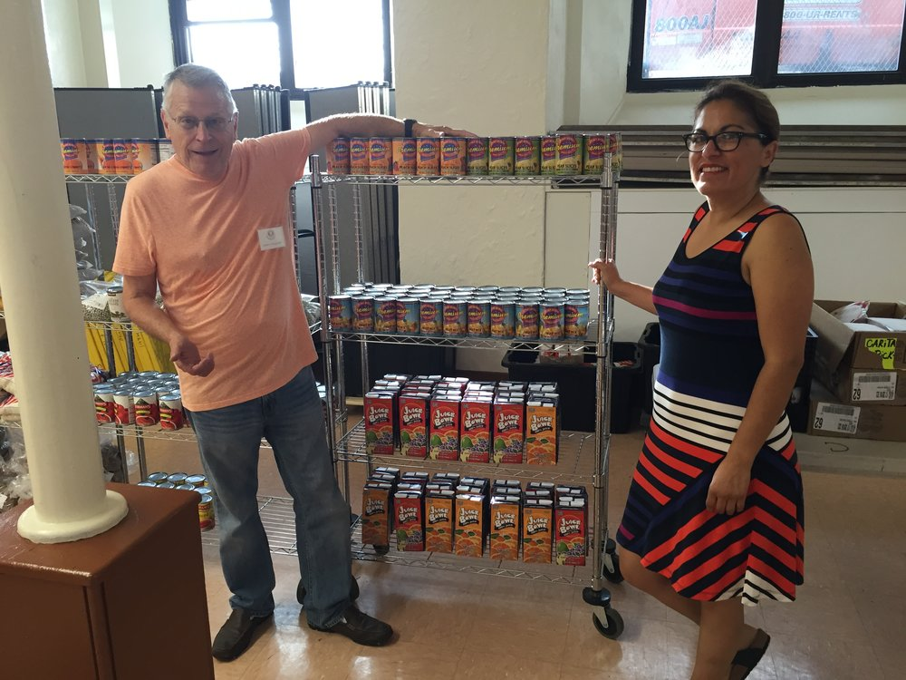 Sprague Energy donated canned fruit
