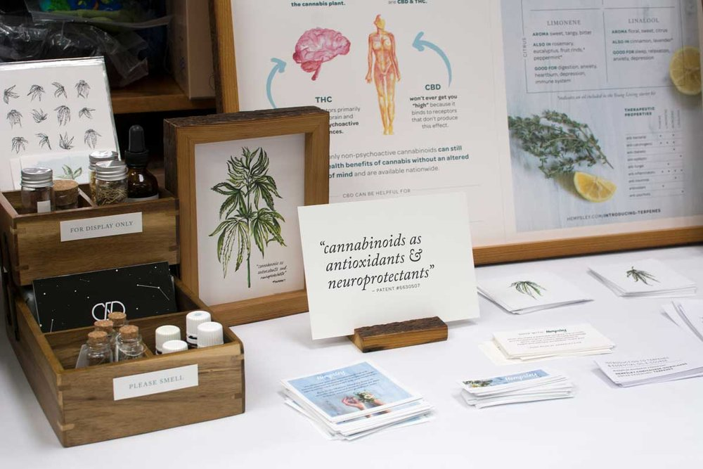 Guests were encouraged to familiarize themselves with the four major terpenes