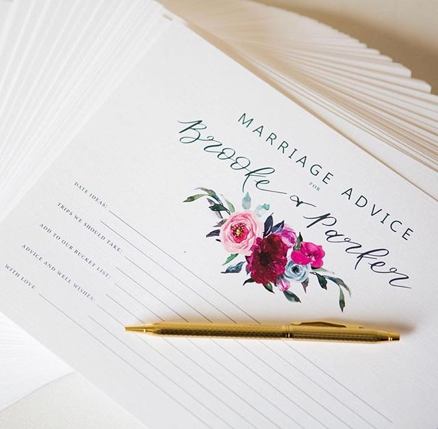 @brookedoerr and @quintessentialeventskc had a vision for pretty watercolors to be used throughout her day of goods - including on these sweet advice cards for her and Parker's guestbook! You know what a i love? That the flowers the talented @goodearthfloral did and these watercolors used throughout matched almost perfectly! 💕 📸: @melissaandbethphotography