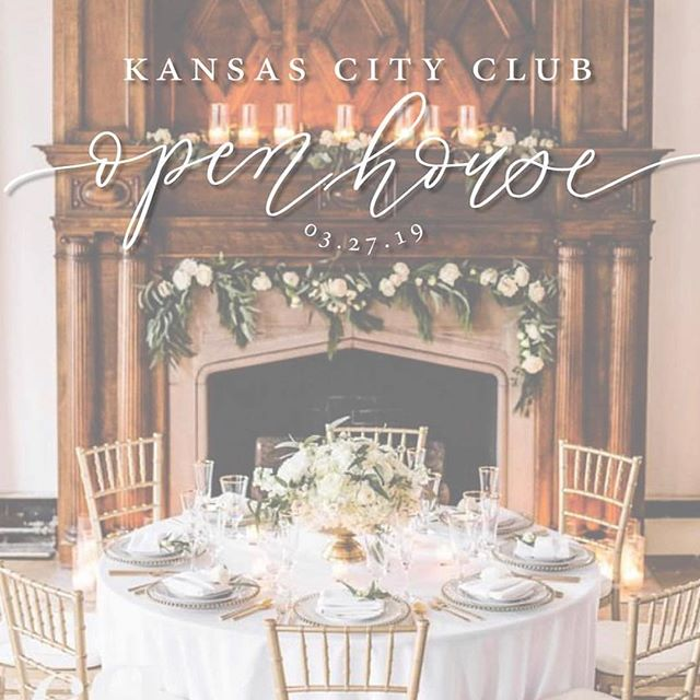 So looking forward to this open house on March 27th at @kansascityclub! To reserve a spot, follow the event brite link in my profile!  Brought to you by this rock star vendor team: Venue – @kansascityclub  Planner – @brickandivorykc  Photographer – @sarareedstudios Videographer – @71studioskc  Floral – @fiore_florals  DJ – @iconeventgroupkc  Catering – @lonlaneiokc  Cake – @bluethistlecakes  Bar – @topshelfbartendingkc  Stationary – @crossroadcalligraphy  Dress – @vanyadesigns  Tux – @tiptoptux