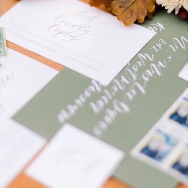 Hand calligraphy adds such a thoughtful touch to your invitation suite. There's something about it that just makes guests feel special and cared for. . . . . @laceyrene.studios