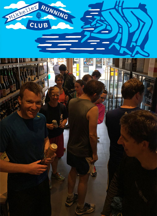 Opening day visit from the Mikkeller Running Club