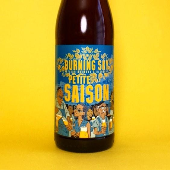 New @burningskybeer Petite Saison 3.5% mixed fermentation Saison, aged in white Wine barrels . . #Beer #edinburgh #craftbeer #beerstagram #beertography #instabeer #beergeek #craftnotcrap #saison #farmhouseale