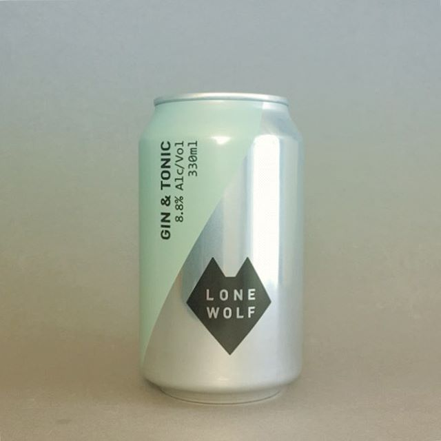 Nice bit of self-conscious anti-design from @brewdogofficial for their @lonewolfspirits G&T . . #gin #ginandtonic #gandt