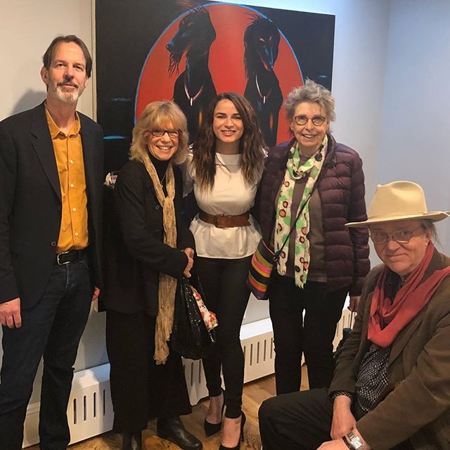 opening reception for The Chicago Show, with Richard Hull, Sarah Canright, Cynthia Carlson, & Robert Storr 💕