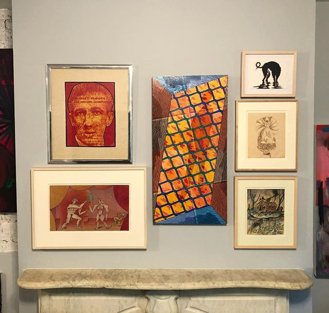 The Chicago Show is on view this weekend noon-6pm, with late hours till 8 this Saturday :) come see these works by Jim Nutt, Ed Paschke, Art Green, HC Westermann, & Sarah Canright! #thechicagoshow