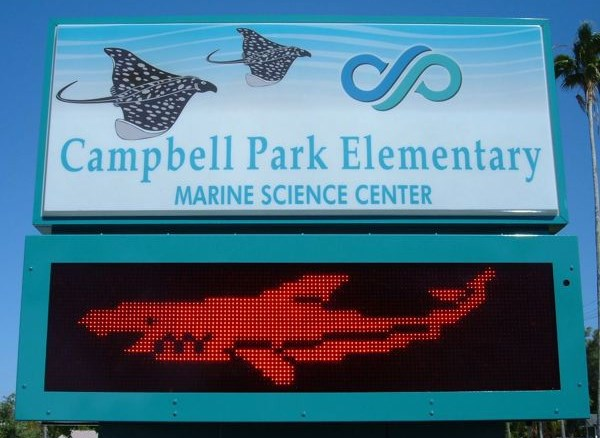 Campbell Park Elementary School Sign- located on 7th Ave. South