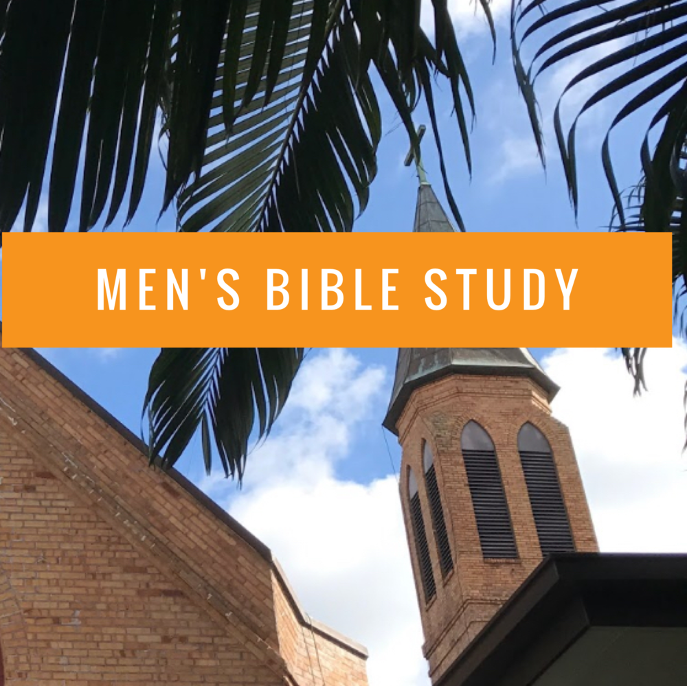 Men's Bible Study -  Starting September 7: The Men's Bible Study meets at 7:30 a.m. Thursdays for an hour. This year they will study the book of Exodus. This group offers prayer and fellowship as well as study of Scripture. Information: Frank Casorio, leprof46@hotmail.com.