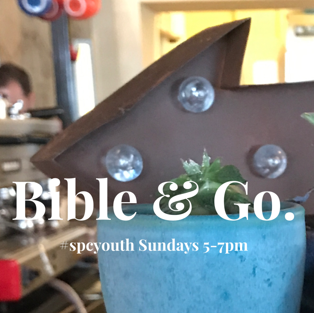 Bible & GO... - ... is the weekly meeting of Cathedral Youth on Sunday evenings from 5:00-7:00pm.