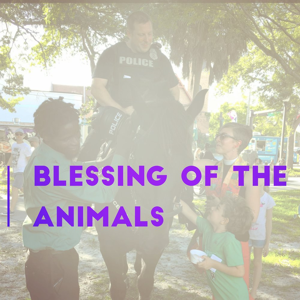 Blessing of the Animals - Join us at Vinoy Park during the festival for the SPCA Pet Walk! Contact: Katie Churchwell