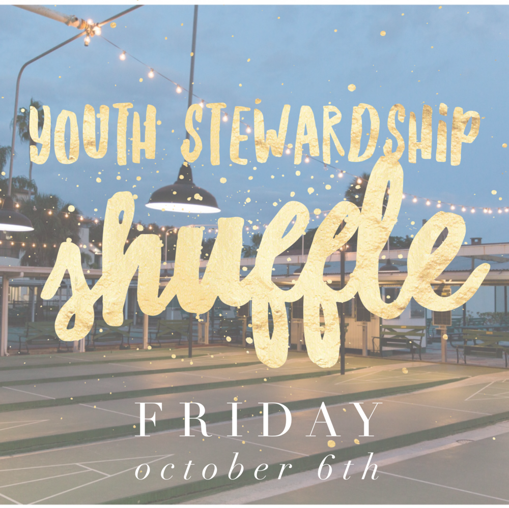Youth Stewardship Shuffle - Youth Stewardship ShuffleOn Friday, October 6th, many Cathedral Grownups will be enjoying the merriment of the Cathedral Oktoberfest to kick off the stewardship campaign. There will be professional childcare in the nursery. There will also be...SHUFFLEBOARD for the YOUTH! (Can you tell we're excited?) That's right. We'll have our own Stewardship Shuffle where we--the Youth and Grownup stakeholders--gather to discuss our time, talents and treasures and what stewardship looks like for us. We also like how Stewardship Shuffle sounds a little like the Cupid Shuffle--maybe we'll have a brand new dance!Youth may arrive at the Cathedral with their Grownups that night beginning at 5:30pm. We'll leave around 6pm to grab a court, some tangs and shoot the pucks. Dinner will be provided to nourish our fellowship and stewardship muscles. What better way to spend an evening of friends and fellowship, enjoying one of the gems of St. Petersburg? Contact Justin with any questions.