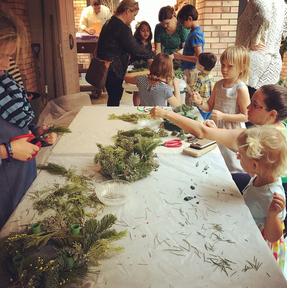 Children's Ministries Advent Wreath-Making on ADVENT I