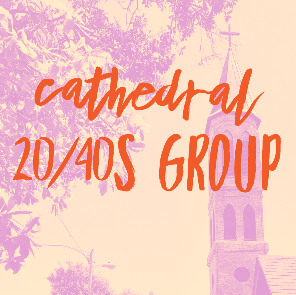 age range 20/40s - Click here to visit the 20/40s pageIf you identity as a young adult (ages 20ish to 40ish) and are looking for connection and community with people in similar life situations as you, please consider joining the young adult group at the Cathedral. There is a private Facebook group, where we communicate with each other, sharing ideas, questions, prayer requests, and of course, opportunities to get together.You can search for the group on facebook: Cathedral Church of St. Peter's 20/40 Group