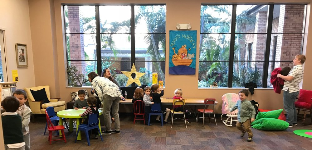 Children & Volunteers in the Cathedral Nursery