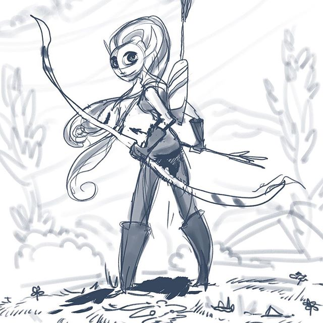 Stripes! #michaelmercerart #mikescrazyideas #myart #instacool #instart #archer #elf #fantasyart #fantasy #conceptart #illustration
