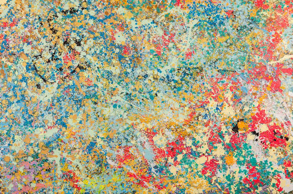 "Borders  Acrylic on Canvas with Creation Animation, 48"" x 72"""