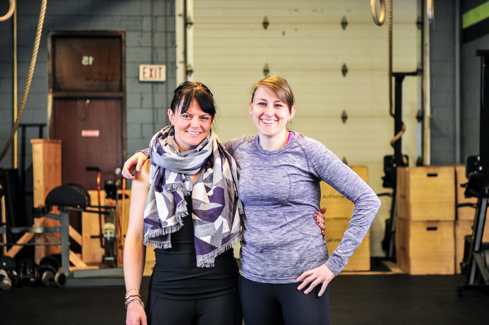 Kathryn griffin (left) and michaela diakiw (right)