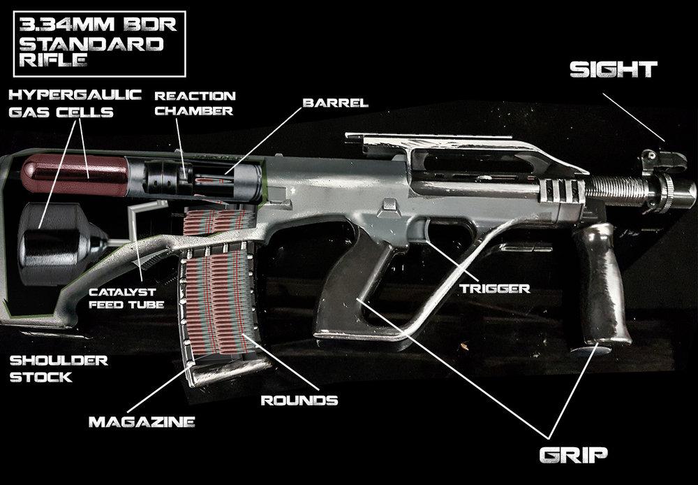 BDR rifle Cutaway