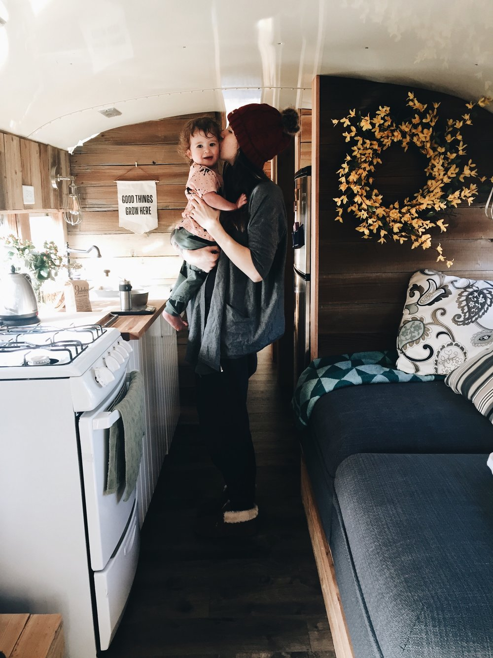 Bus Tour: The Kitchen And Living Area! (A Tour Of Our