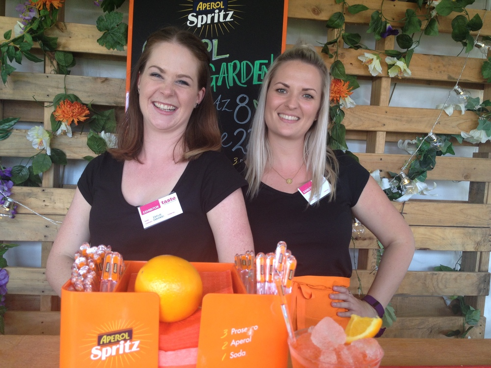 The gorgeous Aperol Spritz girls