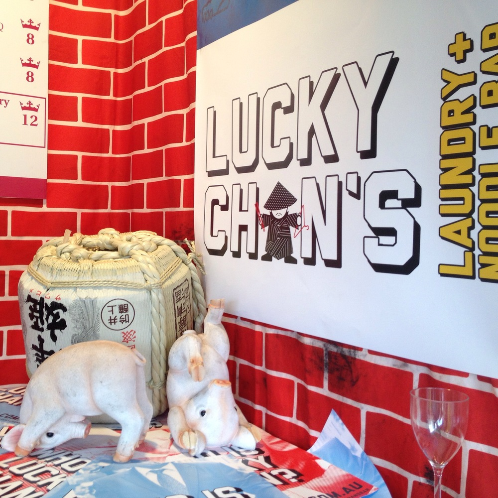 Lucky Chan's Laundry and Noodle Bar Winning Piggy Display