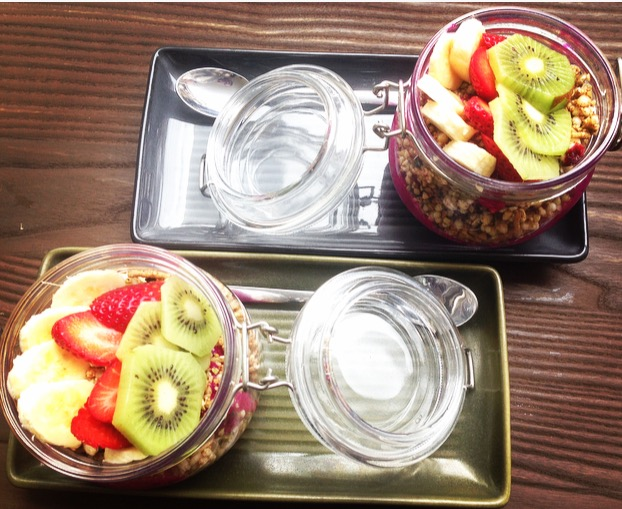 Twin Dragonfruit bowls