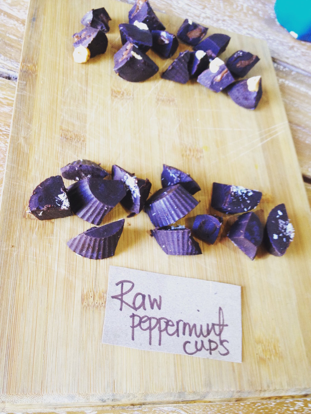 Raw Peanut Butter Cups and Raw Peppermint Cups