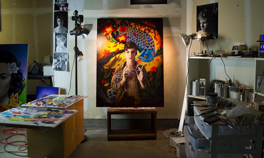 Ryan Martin's studio
