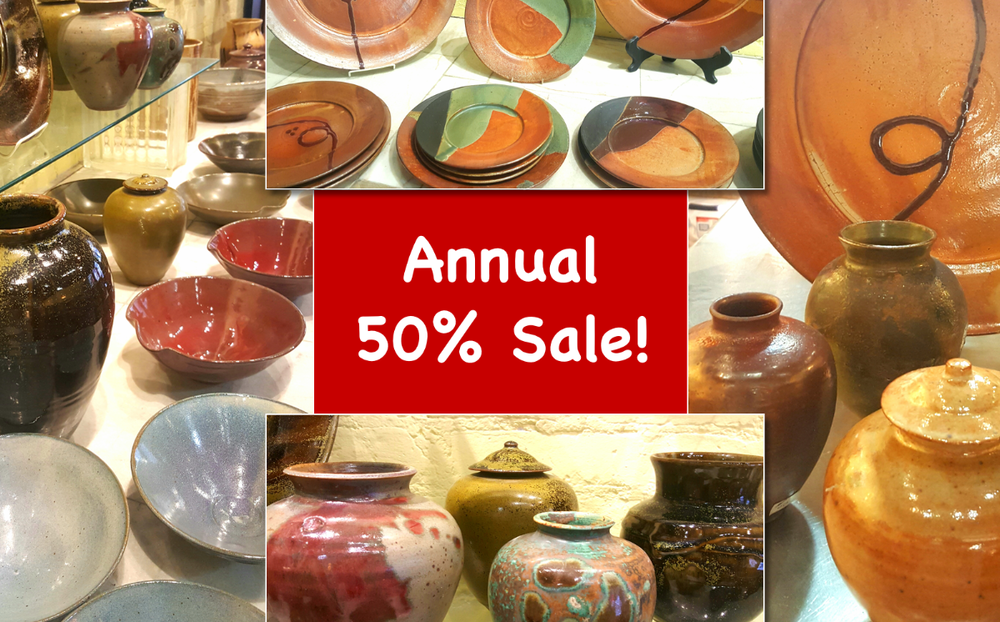 Jan 25 to Feb 10, 2019 - It is time for our annual let's empty the gallery 50% off sale! The sale will run from January 25 to February 10, 2019. Come early for the best selection of first quality pieces. With Valentine's day around the corner why not purchase a one of a kind work of art.