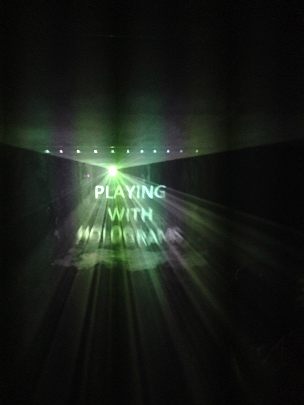 Playing with Holograms