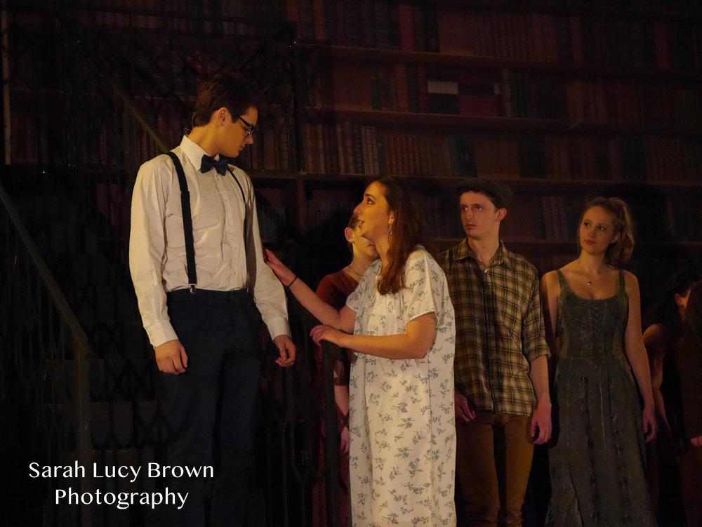 Medea   Oliver Sheard, Holly Cowan, Edward Villers and Ensemble   Photo Credit: Sarah Brown