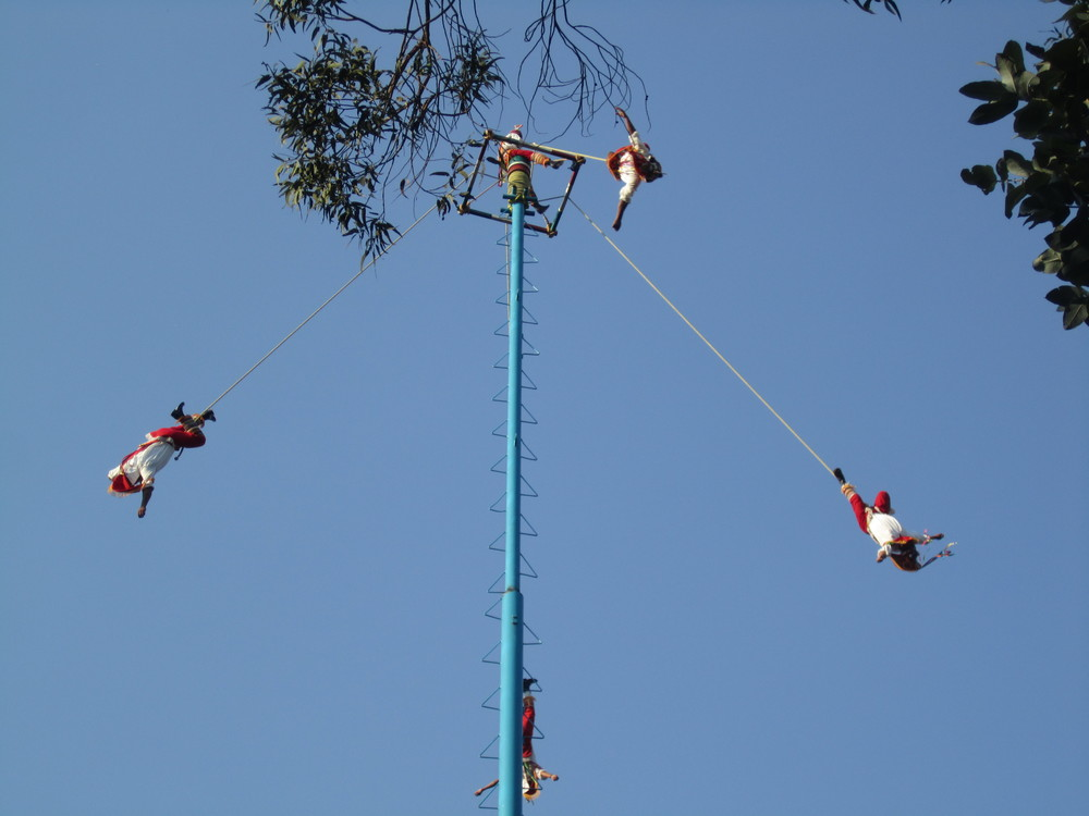 Danza de los Voladores - Dance of the Flyers   Photo:  Calvin Wood