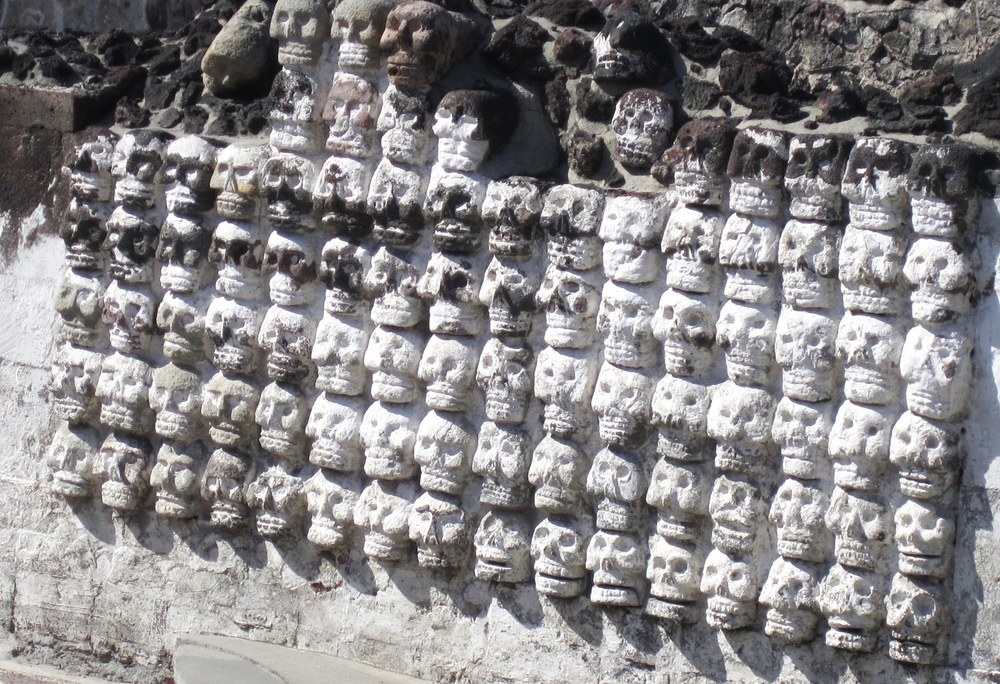 Museo del Templo Mayor - Wall of Skulls   Photo:   Calvin Wood