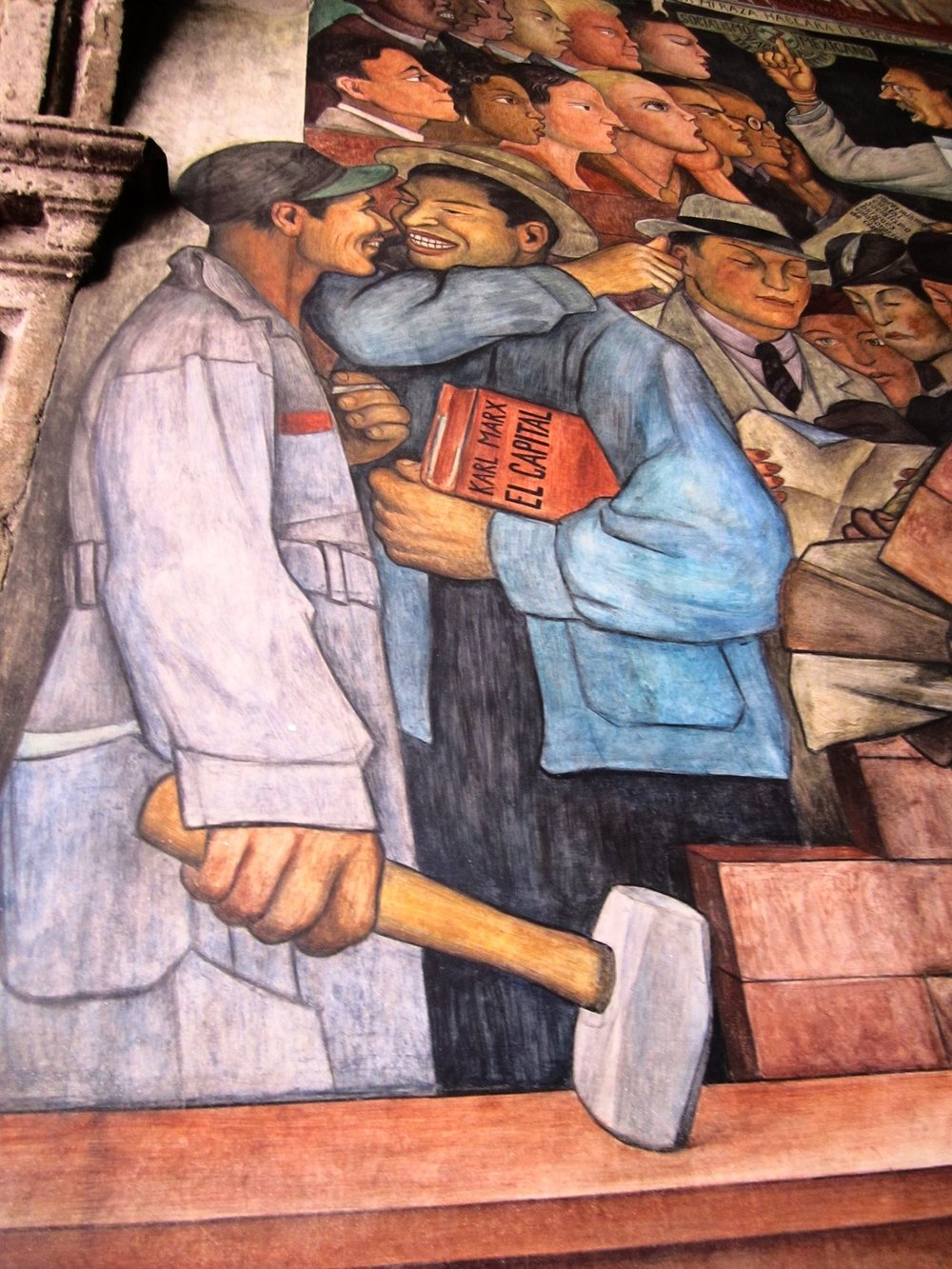 Diego Rivera's murals at the National Palace  Photo:  Calvin Wood