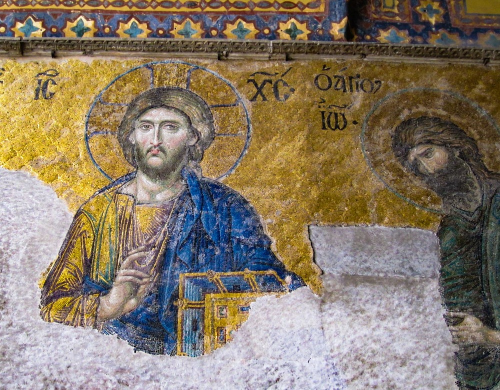 Deësis mosaic from Hagia Sophia   Photo:  Calvin Wood