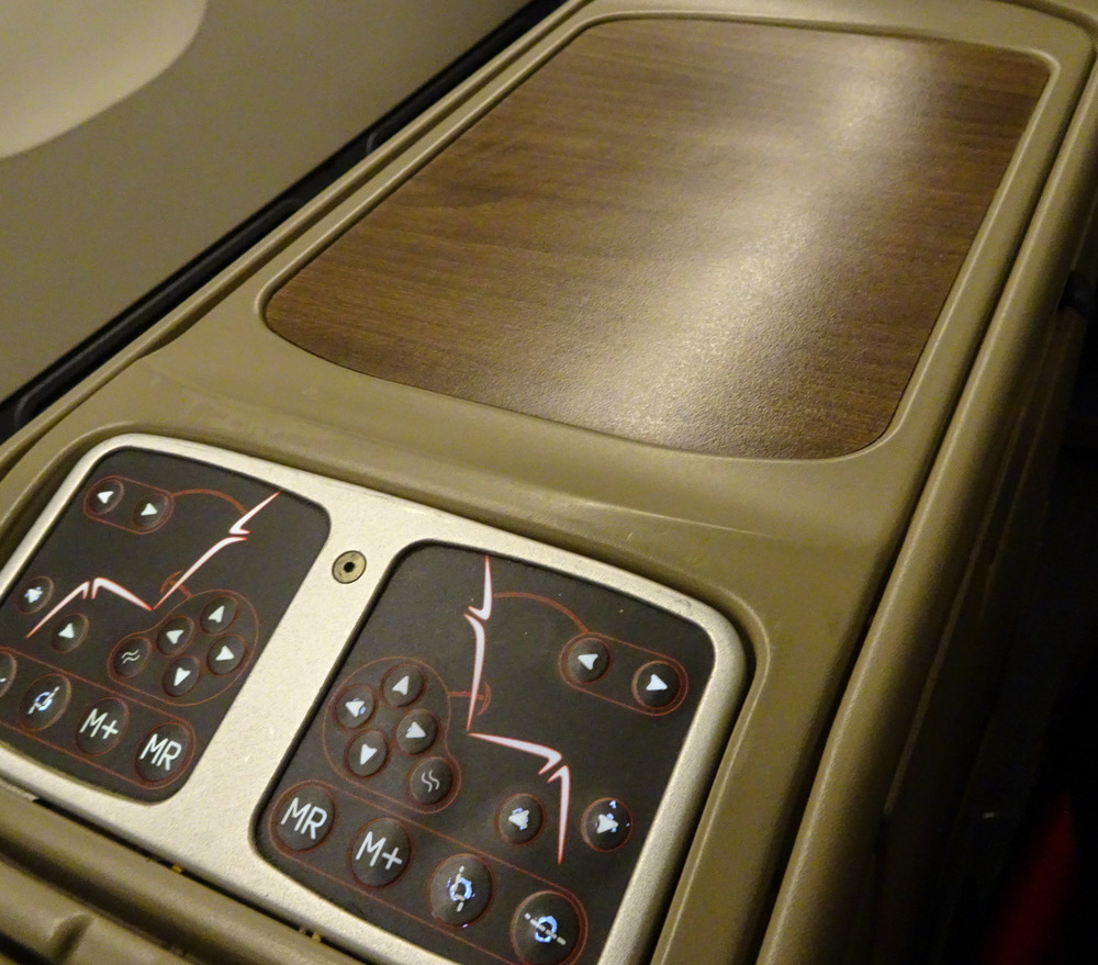 Seat Controls Business Class Turkish Airlines 777   Photo:  Calvin Wood