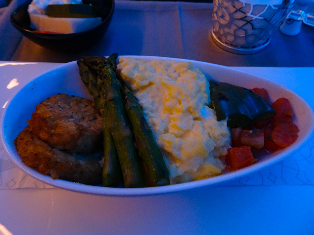 Eggs Business Class Turkish Airlines   Photo:  Calvin Wood