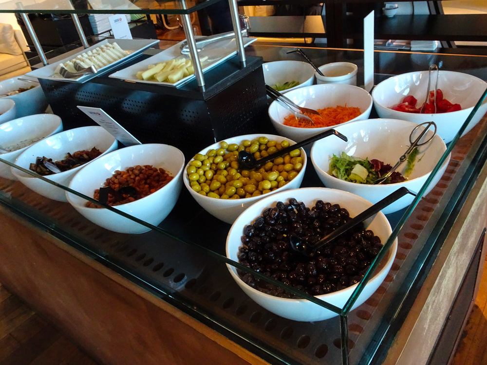 Salads - Turkish Airlines CIP Lounge    Photo:  Calvin Wood