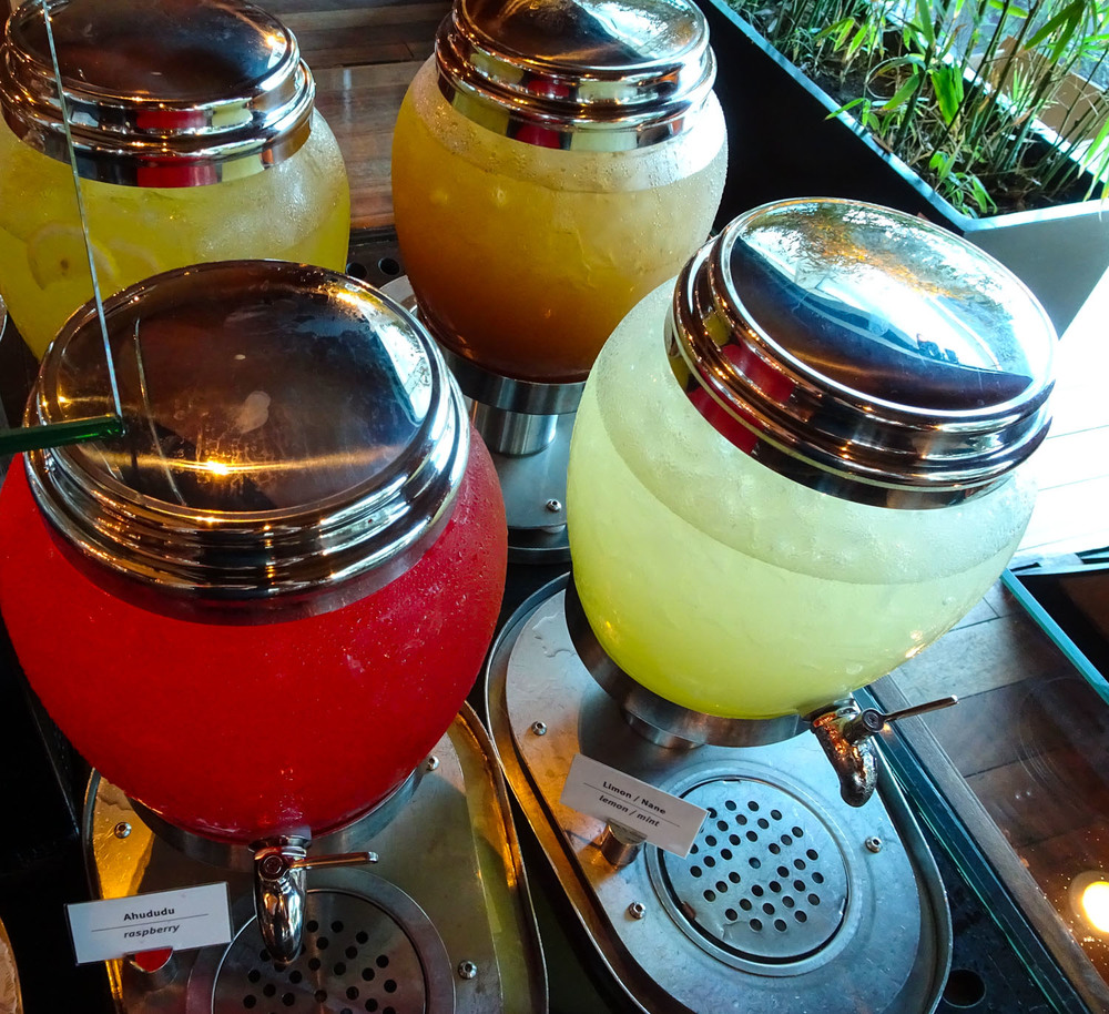 Fresh Juices - Turkish Airlines CIP Lounge   Photo:  Calvin Wood