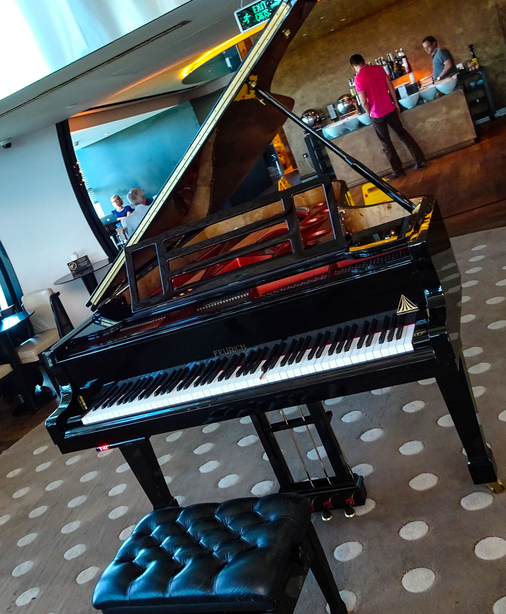 Piano - One of Two - Turkish Airlines CIP Lounge   Photo:  Calvin Wood
