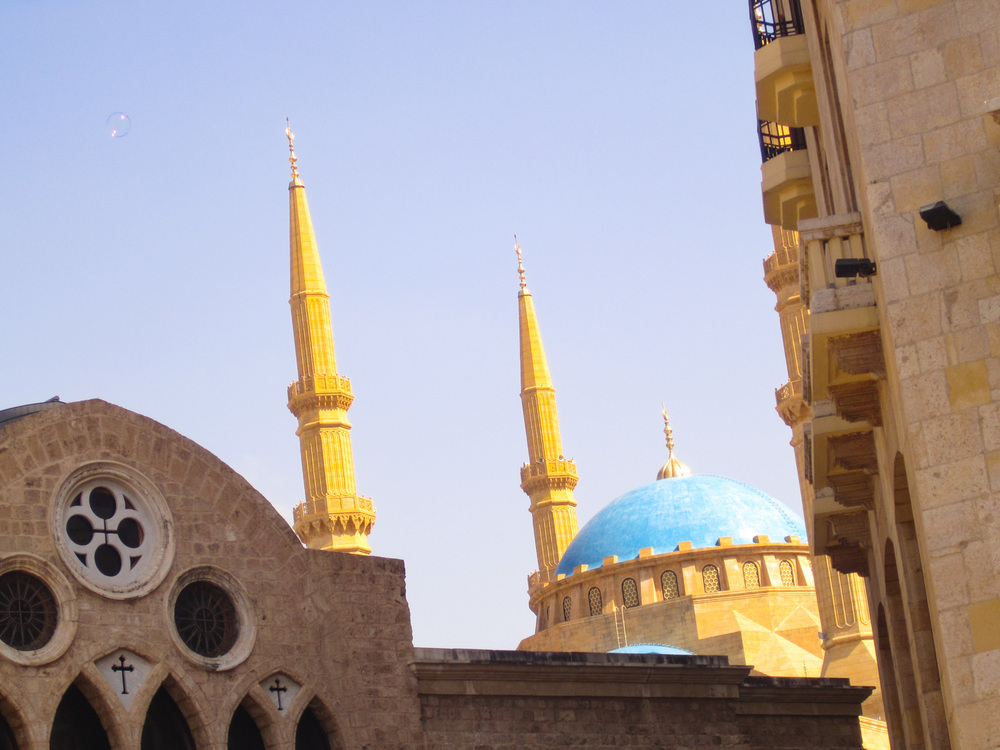 St George Church and Mohammad Al-Amin Mosque  Photo: Calvin Wood