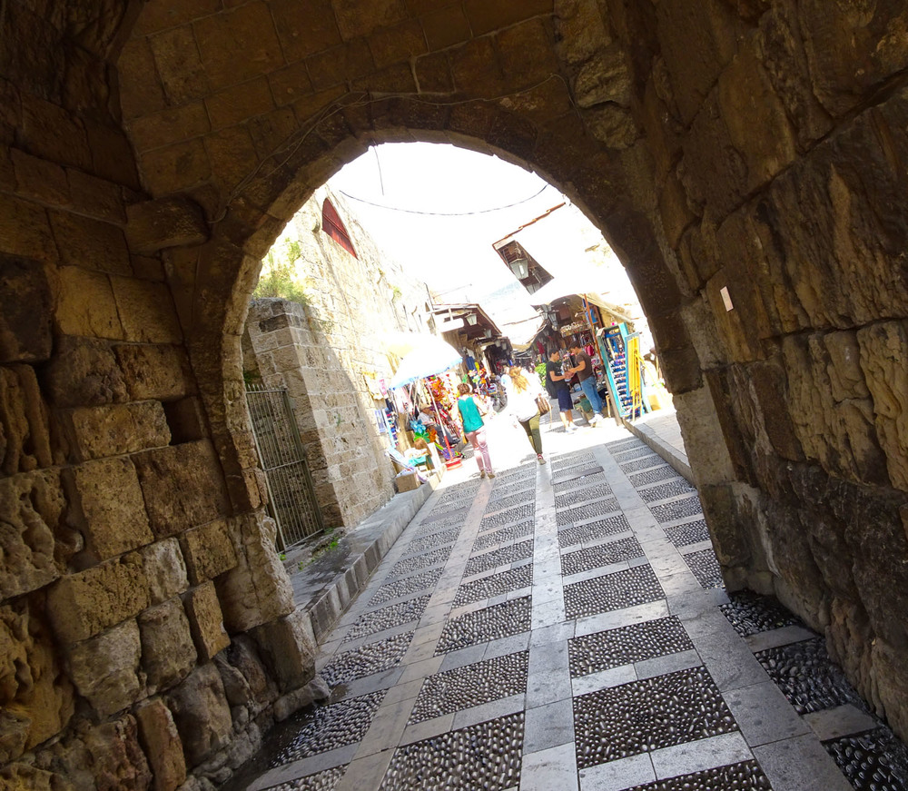 Walking into the souk - Byblos   Photo:  Calvin Wood