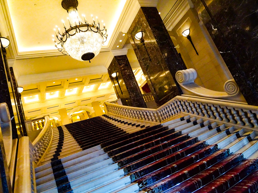 The Grand Stair Case -- Phoenicia Hotel Beirut   Photo:  Calvin Wood
