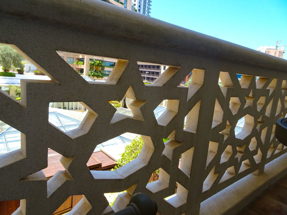 Balcony Detail- Phoenicia Hotel Beirut   Photo:  Calvin Wood