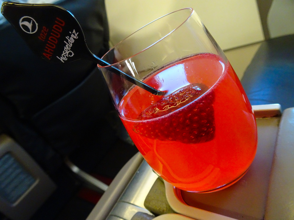Pre-Departure Mocktail - Turkish Airlines Business Class   Photo:  Calvin Wood