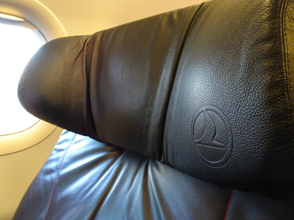 Head Rest - Turkish Airlines A321 Business Class Photo:  Calvin Wood