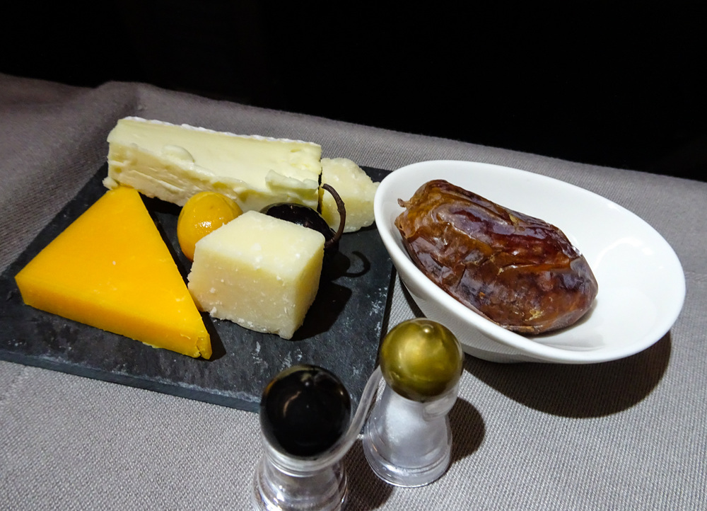 Selection of Cheeses - Turkish Airlines A321 Business Class   Photo:  Calvin Wood